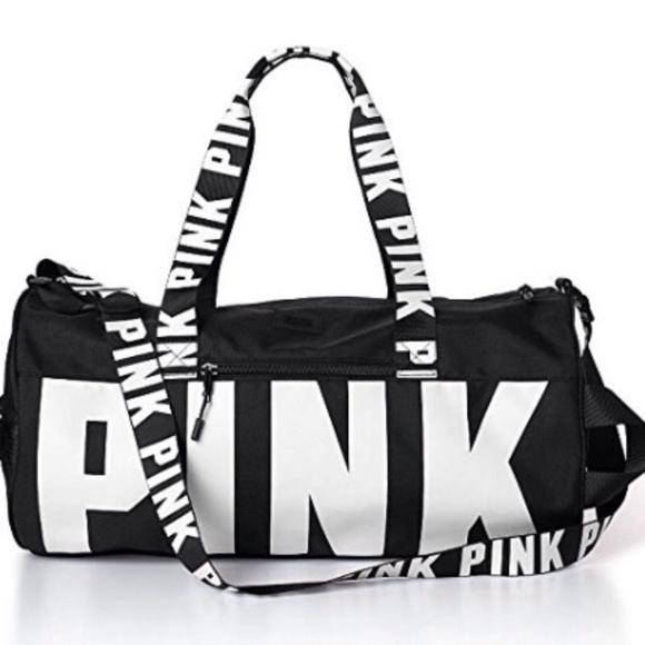 PINK Victoria s Secret Bags   New Victorias Secret Pink Duffle Bag ... c743d398f6